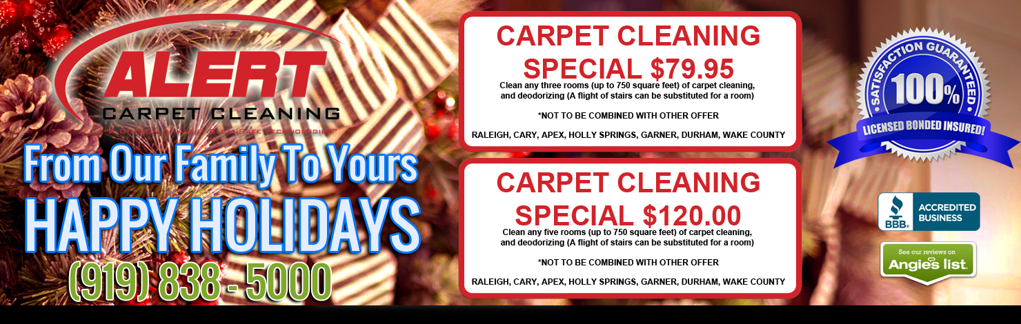 Happy Holidays Carpet Cleaning Coupons